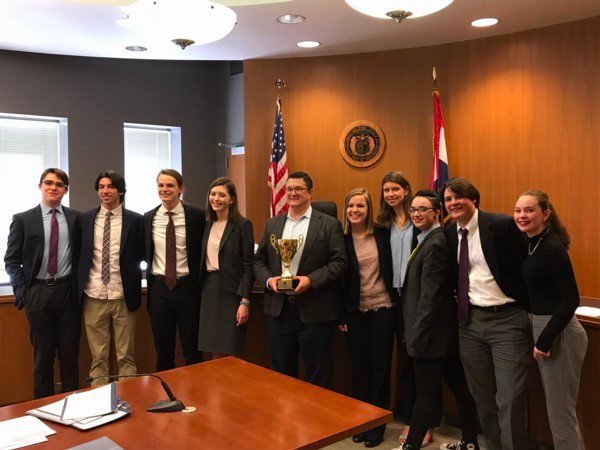 Kirkwood High School (STL) won second place at the State Championship of the Missouri High School Mock Trial Competition