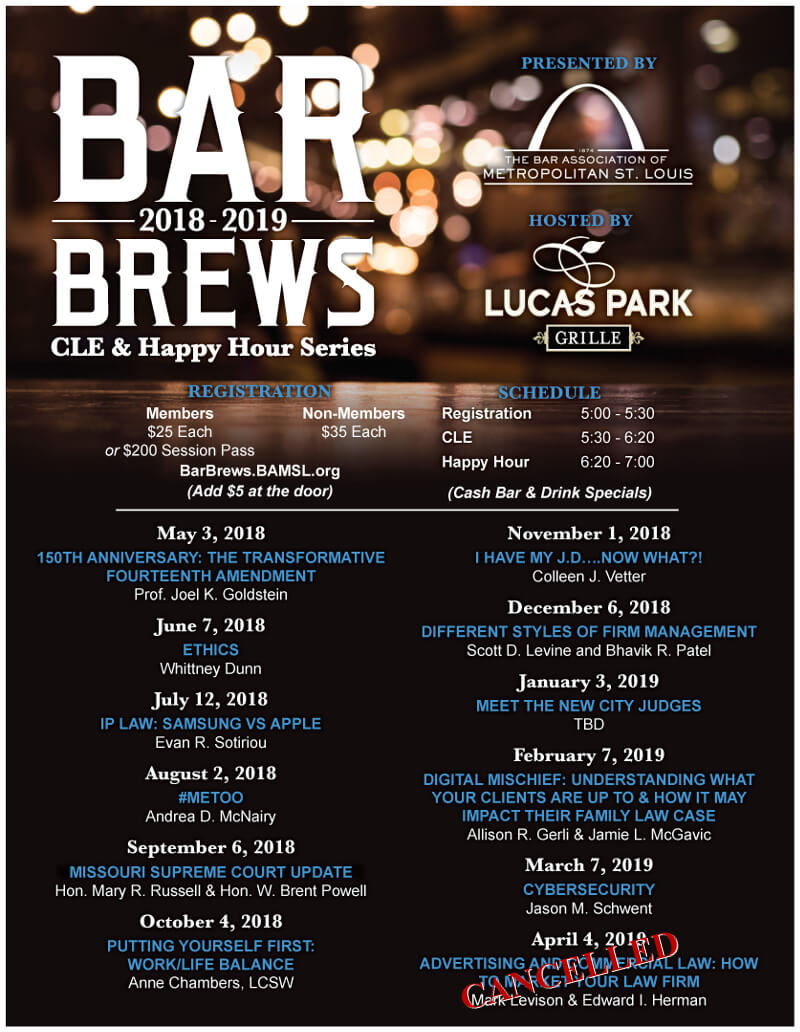 Bar Brews flyer
