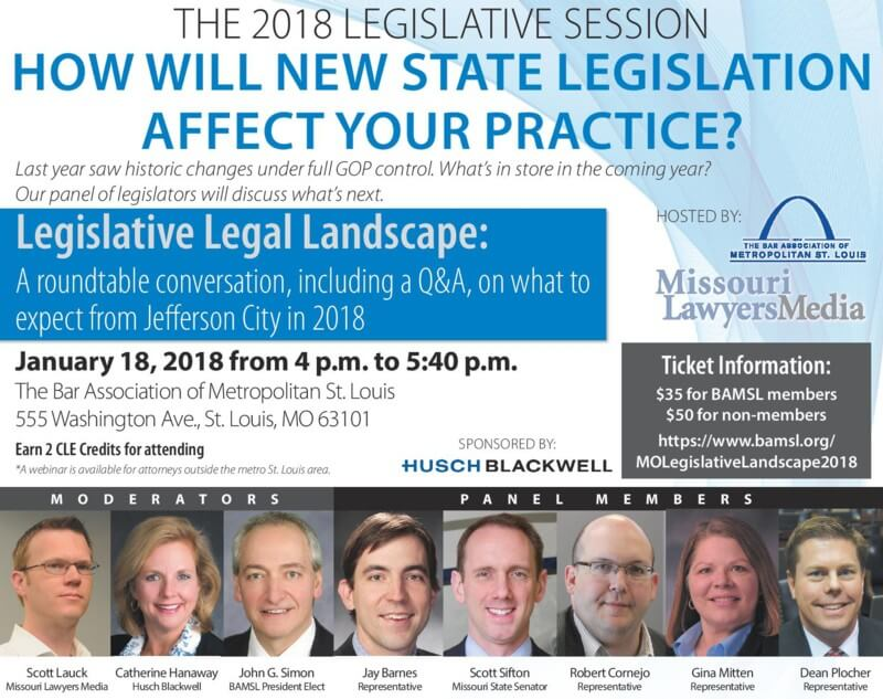 2018 Legislative Legal Landscape roundtable CLE on January 18 2018