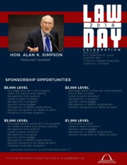 2018 Law Day sponsorship flier