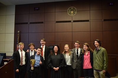 Kirkwood High School (STL) is the 2018 State Champion of the Missouri High School Mock Trial Competition