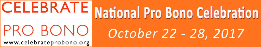 National Celebration of Pro Bono Week 2017 logo