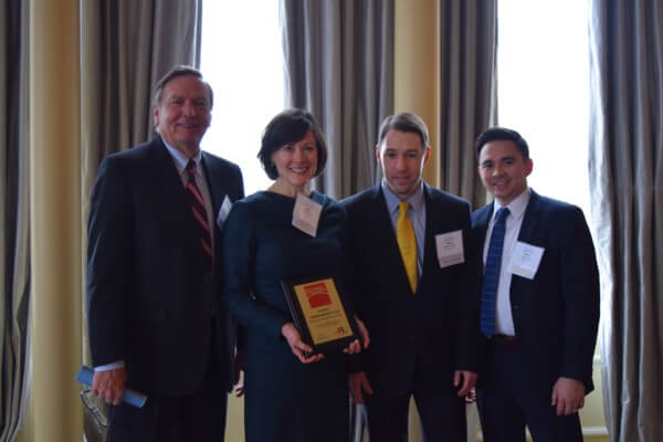 The winning law firm 2018 Hon. Richard B. Teitelman Memorial St. Louis Pro Bono Challenge Awards was Dowd Bennett LLP, which reported an average of 69 hours per attorney.