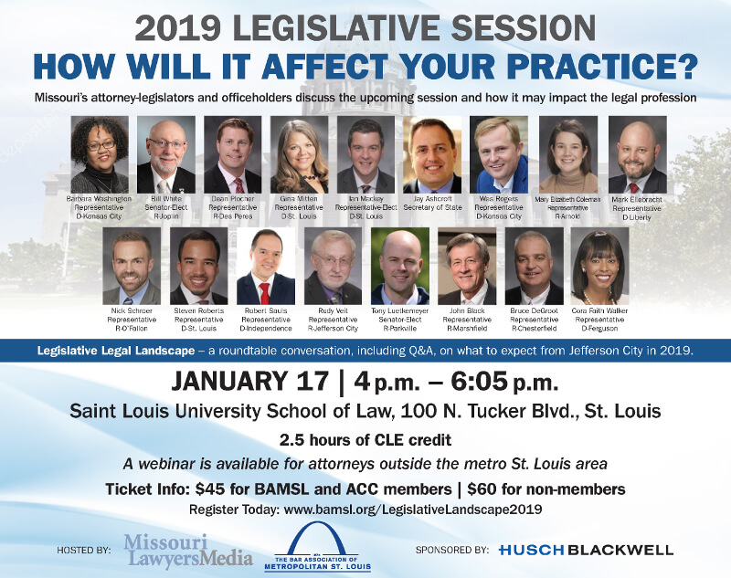 Join BAMSL and Missouri Lawyers Media for the 2019 Legislative Legal Landscapes roundtable