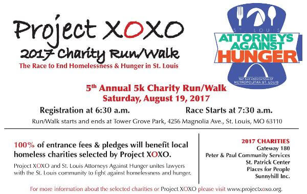 Project XOXO Charity Run and Walk is August 19