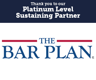 Thank you to our Platinum Level Sustaining Partner, The Bar Plan