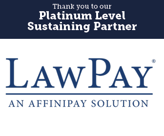Thank you to our Platinum Level Sustaining Partner, Law Pay