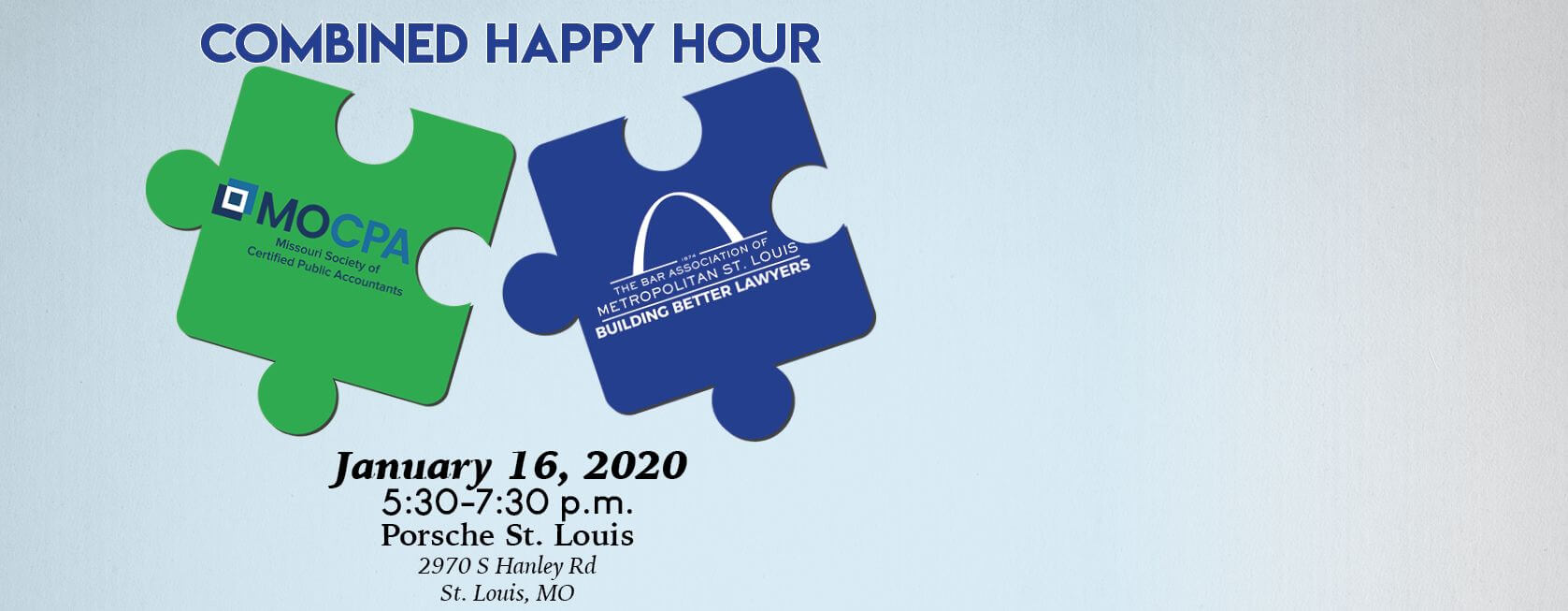 Join us for a combined happy hour with MOCPA on January 16 at Porsche St. Louis