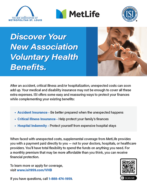Discover your new association Voluntary Health Benefits, including accident insurance, critical illness insurance, and hospital indemnity.