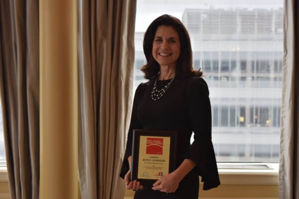The winning individual for the 2018 Hon. Richard B. Teitelman Memorial St. Louis Pro Bono Challenge was Ruth Schneider, with RCJ Law, LLC, who reported providing 334.4 hours.