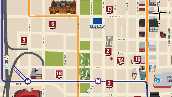 SLU Law parking map
